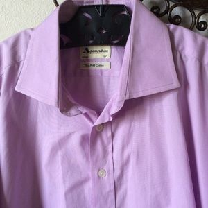 Aquascutum London Lavender Button Up Dress Shirt